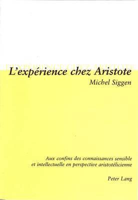 L Experience Chez Aristote: Aux Confins Des Connaissances Sensible Et Intellectuelle En Perspective Aristotelicienne