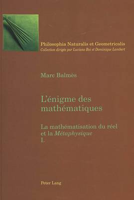 L Enigme Des Mathematiques: La Mathematisation Du Reel Et La  Metaphysique - Tome I