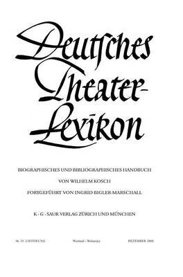 Deutsches Theater-Lexikon: Wieland - Wolansky