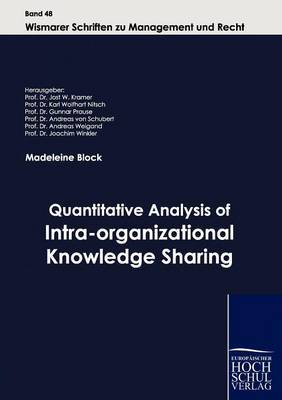 Quantitative Analysis of Intra-Organizational Knowledge Sharing