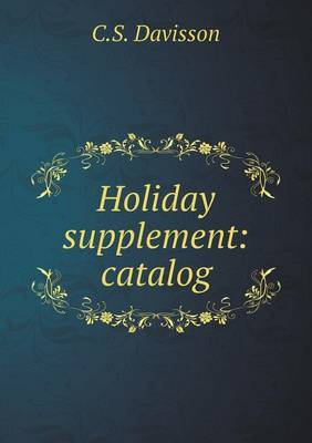 Holiday Supplement: Catalog