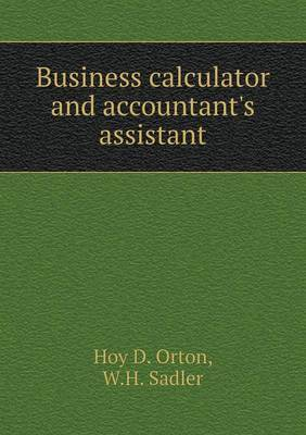 Business Calculator and Accountant's Assistant