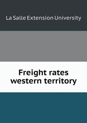 Freight Rates Western Territory
