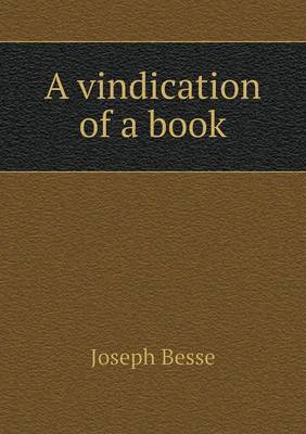 A Vindication of a Book