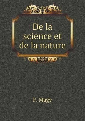 de La Science Et de La Nature