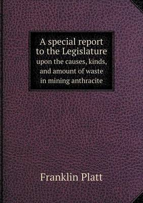 A Special Report to the Legislature Upon the Causes, Kinds, and Amount of Waste in Mining Anthracite