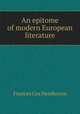 An Epitome of Modern European Literature
