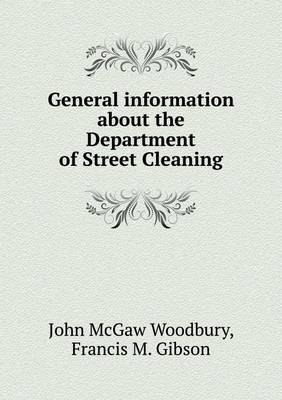 General Information about the Department of Street Cleaning