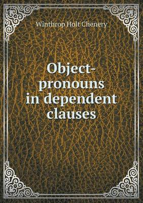Object-Pronouns in Dependent Clauses