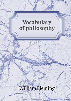 Vocabulary of Philosophy