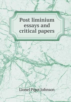 Post Liminium Essays and Critical Papers