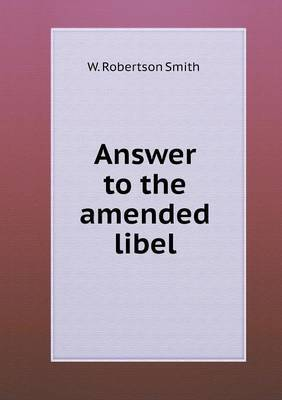 Answer to the Amended Libel