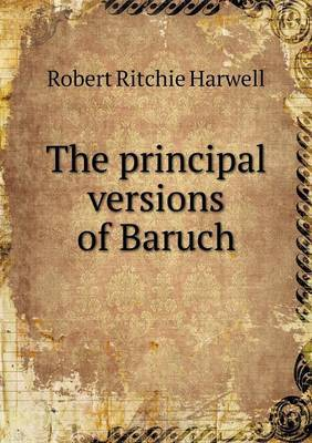 The Principal Versions of Baruch