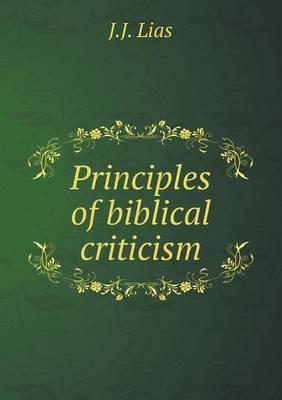 Principles of Biblical Criticism