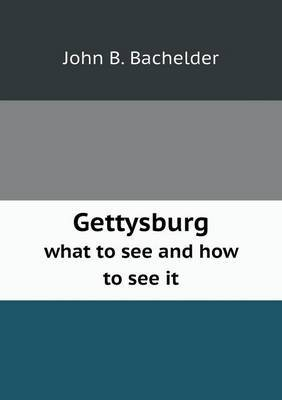 Gettysburg What to See and How to See It