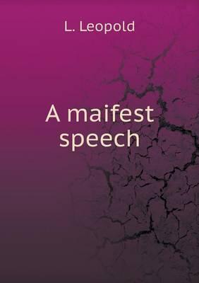 A Maifest Speech