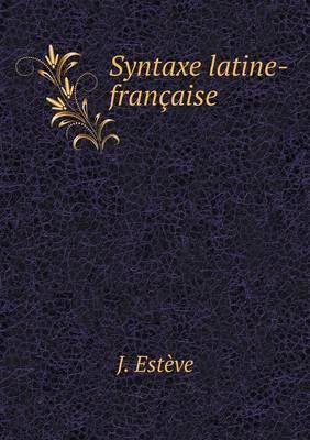 Syntaxe Latine-Francaise