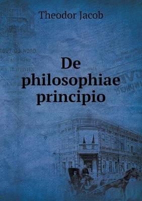 de Philosophiae Principio
