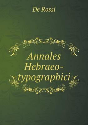 Annales Hebraeo-Typographici