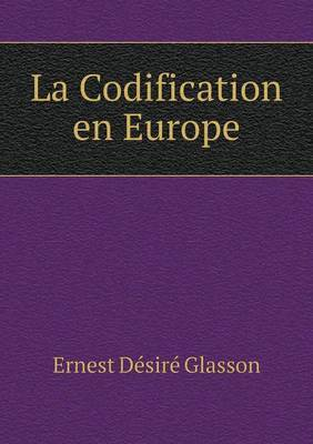 La Codification En Europe