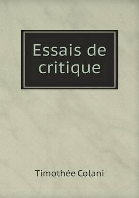 Essais de Critique