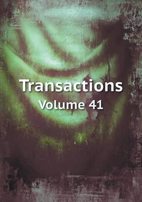 Transactions Volume 41