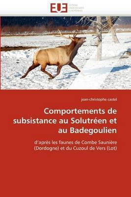 Comportements de Subsistance Au Solutreen Et Au Badegoulien