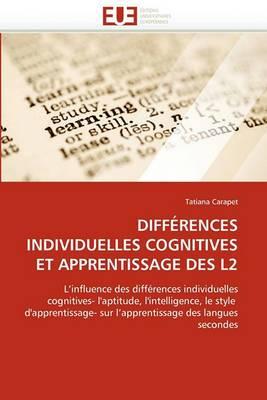 Differences Individuelles Cognitives Et Apprentissage Des L2