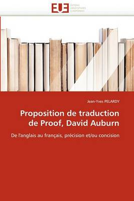 Proposition de Traduction de Proof, David Auburn