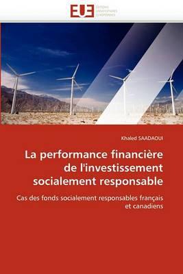 La Performance Financiere de L''Investissement Socialement Responsable