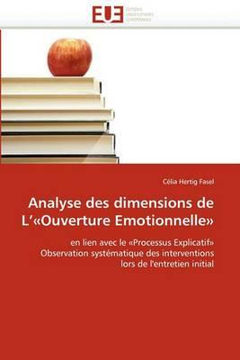 Analyse Des Dimensions de L''-Ouverture Emotionnelle-