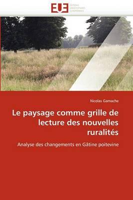 Le Paysage Comme Grille de Lecture Des Nouvelles Ruralites