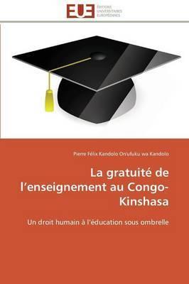 La Gratuite de L Enseignement Au Congo-Kinshasa