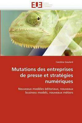 Mutations Des Entreprises de Presse Et Strategies Numeriques