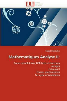 Mathematiques Analyse II
