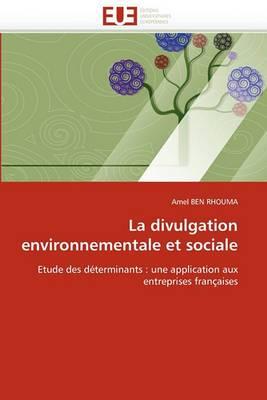 La Divulgation Environnementale Et Sociale