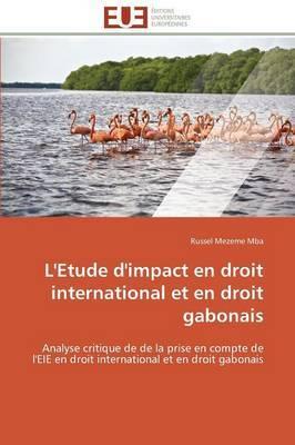 L'Etude D'Impact En Droit International Et En Droit Gabonais