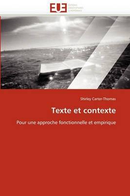 Texte Et Contexte