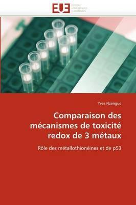 Comparaison Des Mecanismes de Toxicite Redox de 3 Metaux