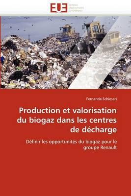 Production Et Valorisation Du Biogaz Dans Les Centres de Decharge