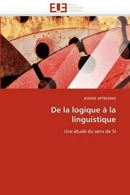 de La Logique a la Linguistique