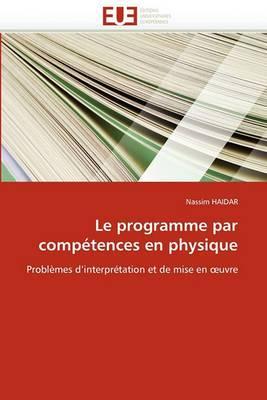 Le Programme Par Competences En Physique