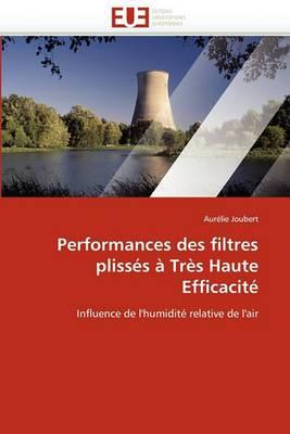 Performances Des Filtres Plisses a Tres Haute Efficacite