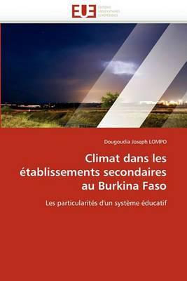 Climat Dans Les Etablissements Secondaires Au Burkina Faso