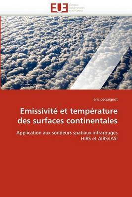 Emissivite Et Temperature Des Surfaces Continentales