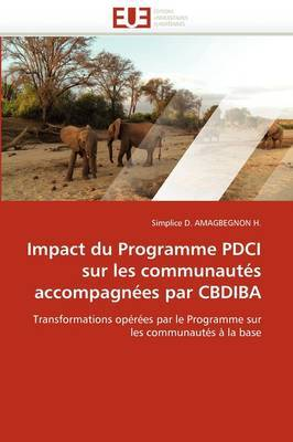 Impact Du Programme Pdci Sur Les Communautes Accompagnees Par Cbdiba