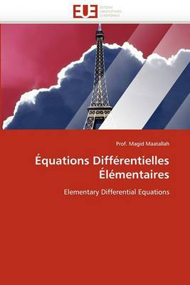 Equations Differentielles Elementaires
