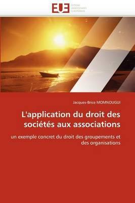 L''Application Du Droit Des Societes Aux Associations