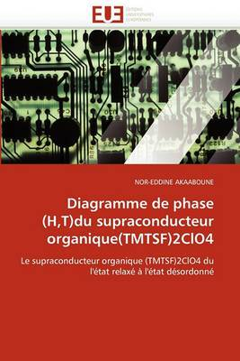 Diagramme de Phase (H, T)Du Supraconducteur Organique(tmtsf)2clo4