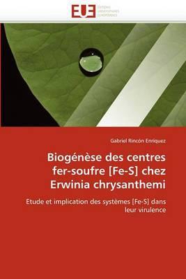 Biogenese Des Centres Fer-Soufre [Fe-S] Chez Erwinia Chrysanthemi
